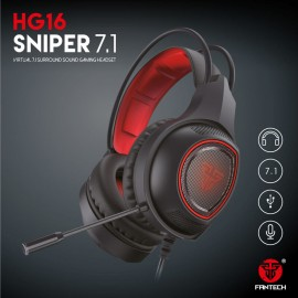 Fantech Hg16 Sniper 7.1 Surround Sound Gaming Headset | RGB Light | Noise cancellation Microphone