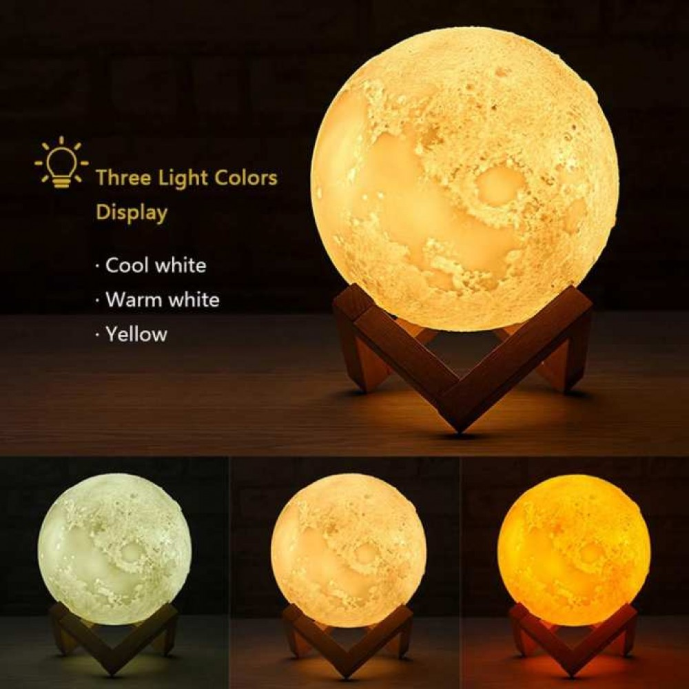 3d Print Moon Lamp With Wooden Holder Base In Nepal