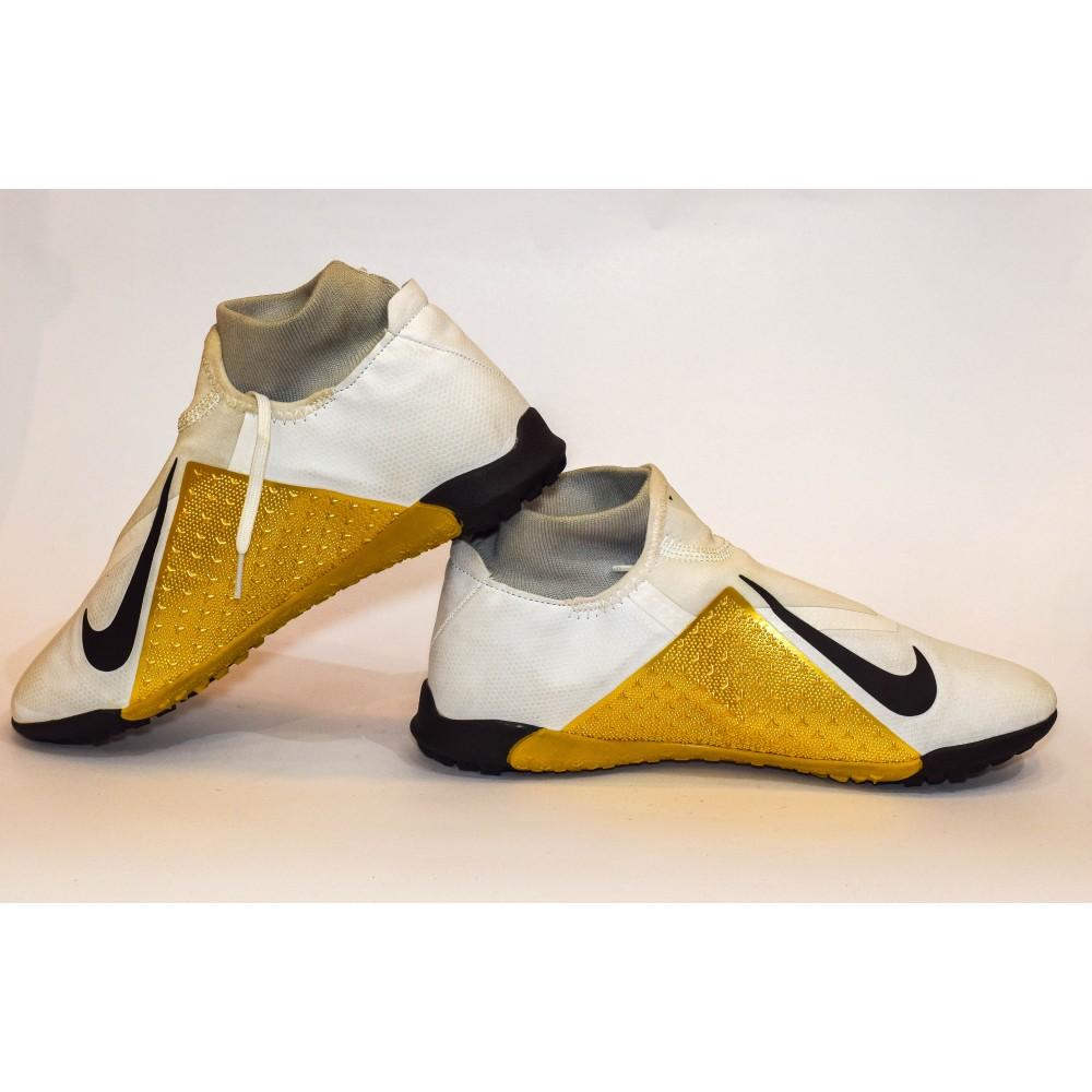 Golden Nike Phantom Futsal shoes