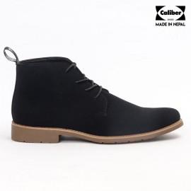 Caliber Shoes | Black Lace Up Lifestyle Boots For Men
