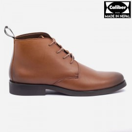 Caliber Shoes | Tan Brown Lace Up Lifestyle Boots For Men