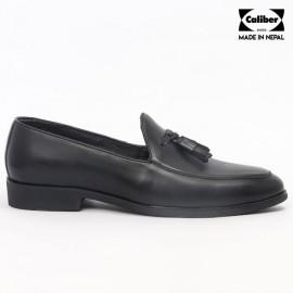 Caliber Shoes | Black Slip On Formal Shoes For Men