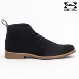 Caliber Shoes Lifestyle Lace Up Boots for Men- Black
